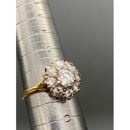 24 - A Beautiful Antique 18ct gold ladies ring set with 1.60ct diamonds. A Large 0.75ct diamond centre su...