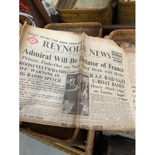446C - A Collection of WW2 era newspapers which includes Daily Mail, Reynolds News and The Daily Sketch etc...