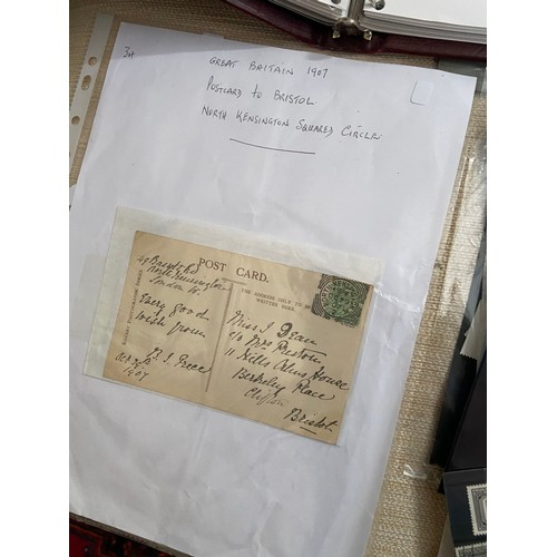 555D - A collection of first day covers and various stamps from around the world....
