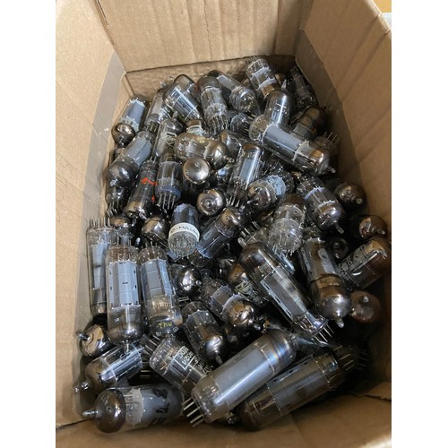 14A - Two boxes containing a large quantity of mixed valves. Includes makes such as Mullard & Brimar....