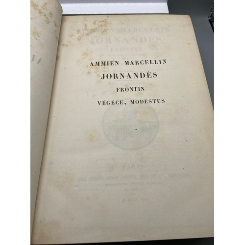 3 - Ammien Marcellin, Jornandès, Frontin (Les Stratagèmes), Végèce, Modestus ; avec la traduction en Fra...