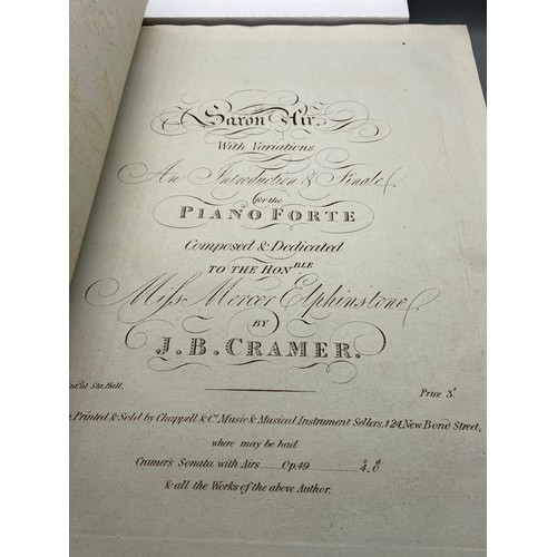 4 - A 19th century [possibly earlier] A Compiled Piano Forte Music book....