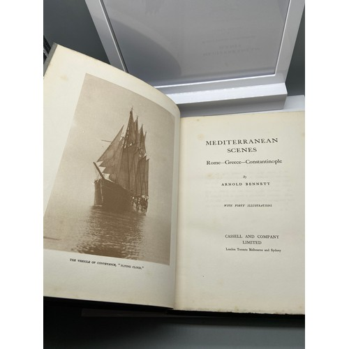 9 - 1st Edition Book Titled 'Mediterranean Scenes' Rome- Greece- Constantinople by Arnold Bennet. Publis...