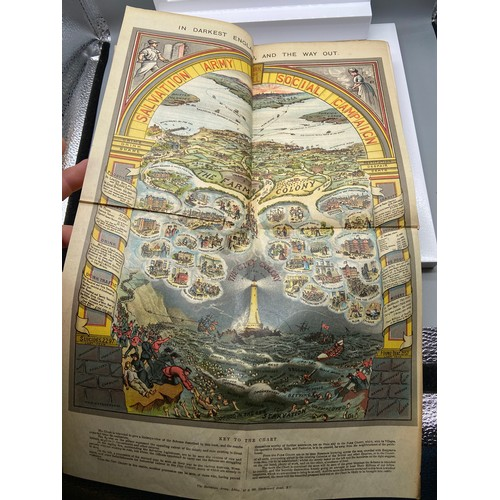 14 - 1st edition book titled 'In Darkest England and The Way Out' by General Booth. Comes with coloured c...