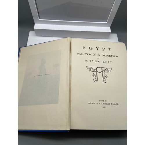 15 - A 1st edition book titled 'Egypt' painted and described by R. Talbot Kelly, London- Adam & Charles B...