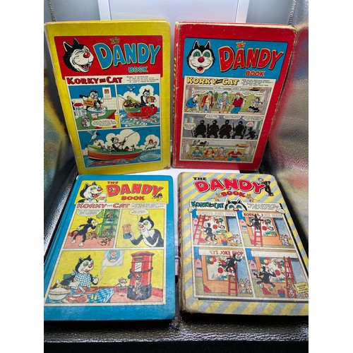 17 - A Lot of four vintage 'The Dandy Book' Annuals dated 1956,1957, 1960 & 1961....