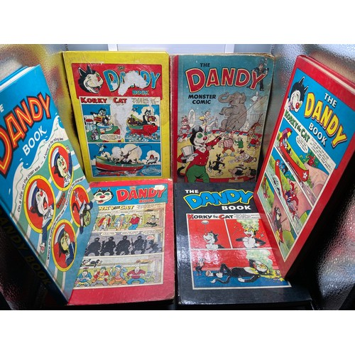 21 - A Lot of 6 vintage 'The Dandy Book' & 'Monster Comic' Annuals. Dates include 1951,1958, 1959, 1961....
