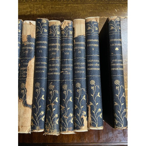 23 - A Collections of Stoddard's Lectures books...