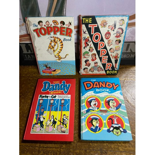 26 - Two vintage The Topper Book Annuals together with two vintage The Dandy Books...