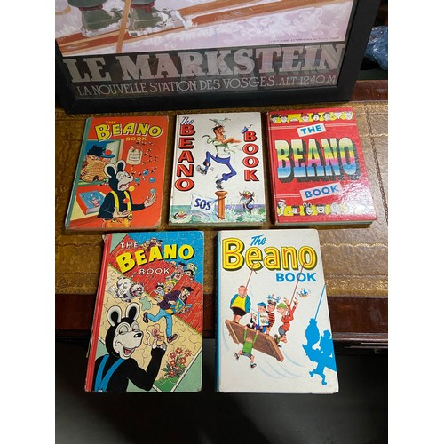 27 - A Lot of 5 various vintage 50's and 60's The Beano Books...