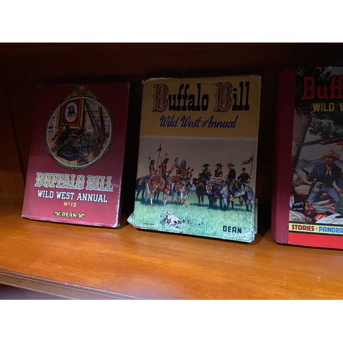 32 - A Collection of Western Annuals which includes mostly Buffalo Bill true west annuals...