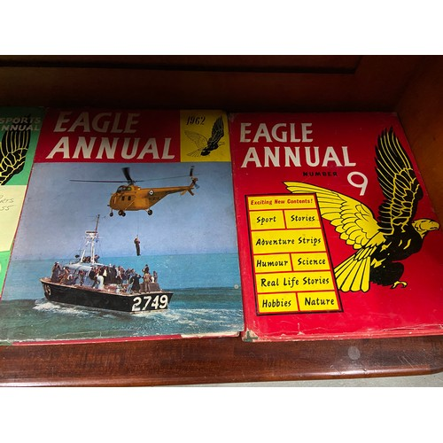 35 - A Collection of vintage Eagle Annuals to include pre 1955...