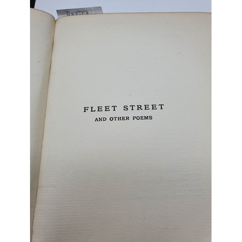 37 - Fleet Street and Other Poems by John Davidson dated 1909. Green cover book....