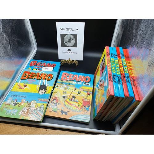 44 - A Collection of The Beano Annual books dated 1980-1989. [Missing 1984]...