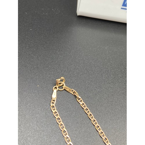 2J - A 9ct gold curb necklace [8 Grams][48cm in Length]...