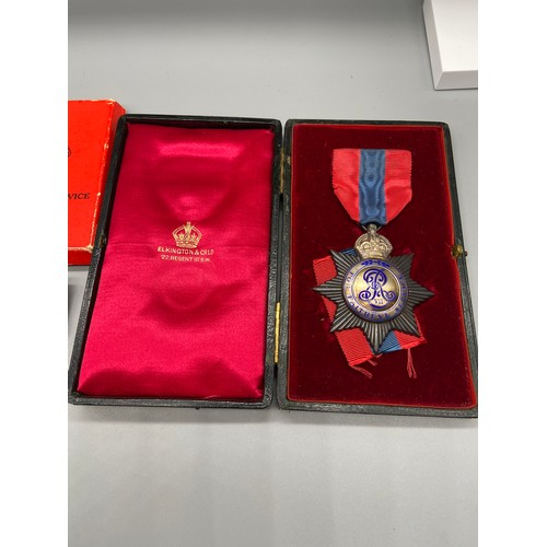 18J - Imperial Service medal, Edward VII Star Type in Elkington case of issue. Together with Imperial Serv...