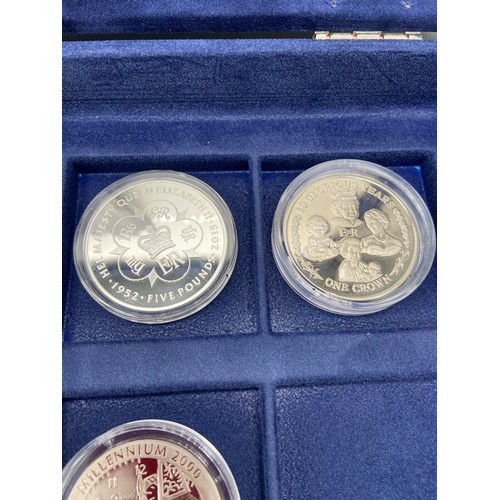 22J - A Westminster Mint 'The Millennium' coin collection [4 coins] with a fitted case and certificates. T...