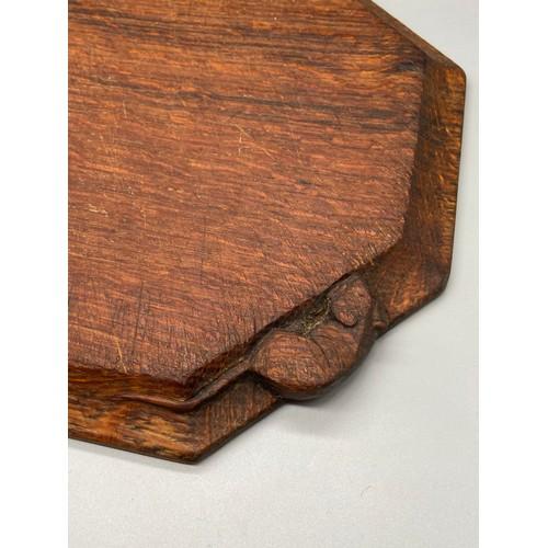 65J - Antique Robert 'Mouseman' Thompson oak chopping board