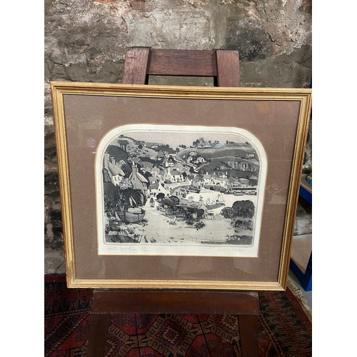 192 - Graham Clarke  Limited edition 75/100  Etching- hand coloured on handmade paper [by artist] titled