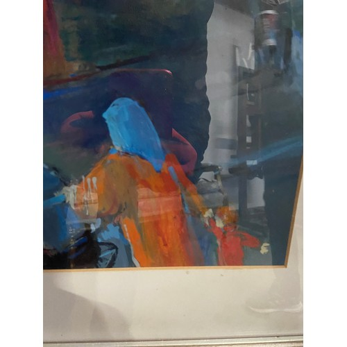 499 - MARY GALLAGHER (Scottish b. 1953) Original Oil Painting titled 'Paddy's Market'  Shown originally at...