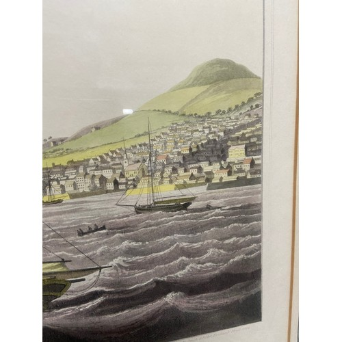 462 - Antique coloured print published by Smith & Elder, 1824. Depicting 'The Town of Dundee' 67x83cm...