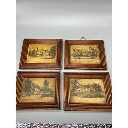 286 - Four antique Rock & Co. London landscape and estate building prints. [...