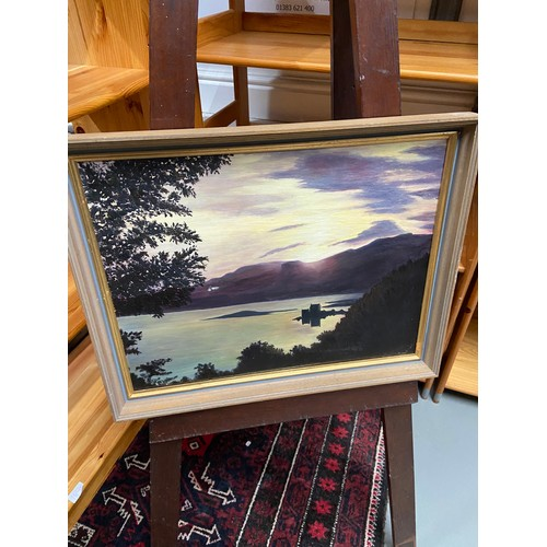 333 - Bertha Rendall original oil painting titled 'Sunset' dated 1977. Fitted with a contemporary frame....