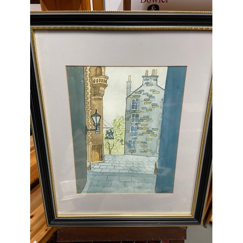 331 - J.F. Morrison  original pen and watercolour titled 'Lady Stairs Close' Dated Oct 1991....
