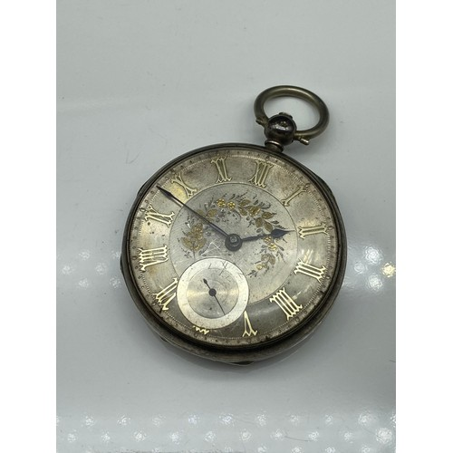 3J - Antique London silver pocket watch [No. 50713]...