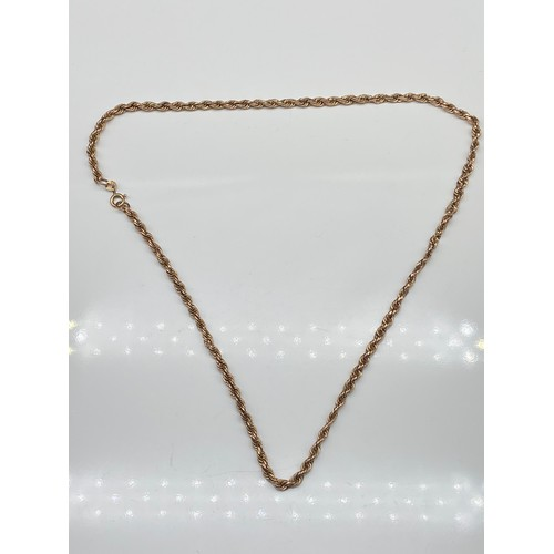 5J - A 9ct gold rope chain necklace. [50cm in length] [4.90grams]...