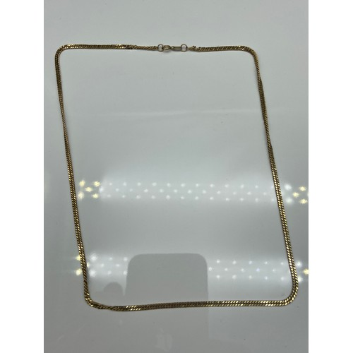 10J - A 9ct gold curb style necklace, [42cm in length] [5.45grams]...