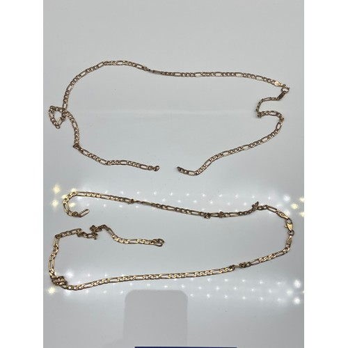 11J - A Lot of two 9ct gold curb necklace, both have severed  links. [10.30grams]...