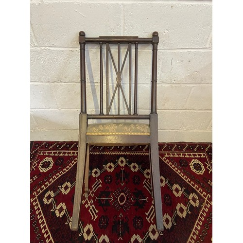 7D - An 18th/ 19th century parlour chair. [H:93CM X W:50CM]...