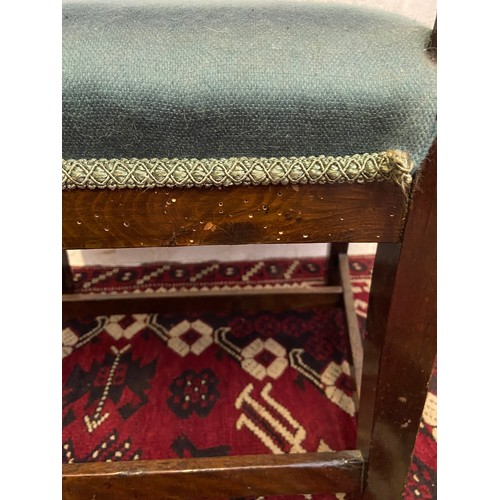 11D - A 19th century dining chair. [Standing 71cm high and 51 cm wide]...
