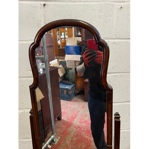 20D - A 19th century full length mirror. [Standing 158cm tall and 40cm wide]...
