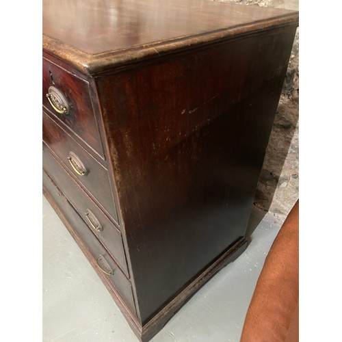 23 - A Georgian three over three chest of drawers [90X107X54CM]...