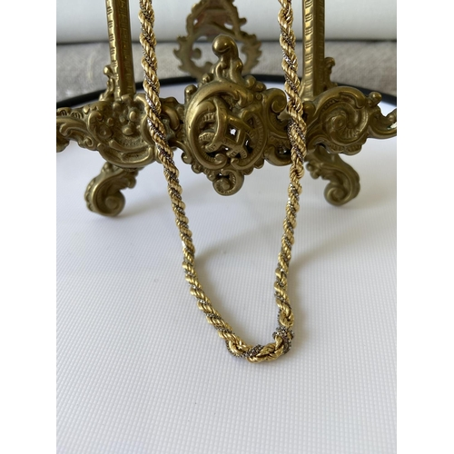 1 - A heavy 18ct gold two tone necklace [60cm length] [26.16g], stamped [18k], (needs attention)...