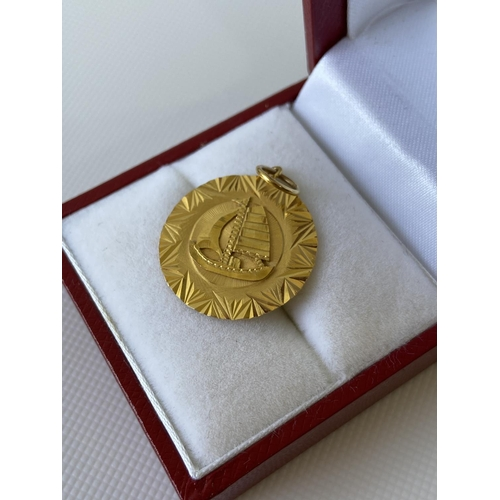 5J - A vintage Chinese/Japanese high grade gold pendant (possibly 22ct-24ct gold) [1.84g]...