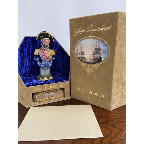 112 - A Rare Royal Doulton Ships Figureheads bust titled 'Nelson' HN2928 [limited edition 69/950] comes wi...