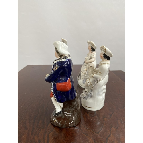 135 - A Lot of four Staffordshire figurines. [15cm in height]...