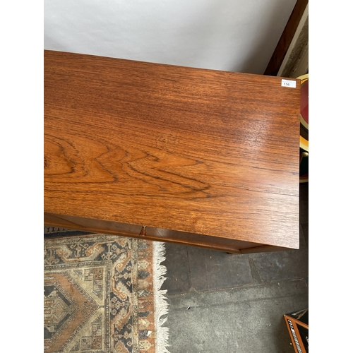 156 - A Really nice example of a mid century teak pedestal sideboard produced by Vanson' Consists of three...