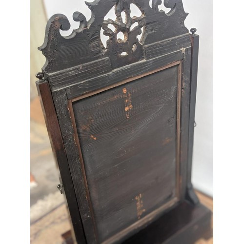 6 - A bold design regency antique adjustable dressing table mirror, with decorative gilt moulding, upon ...