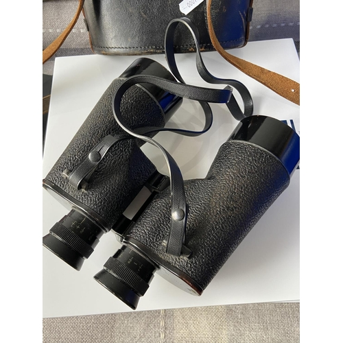 1 - A set of Canadian WW2 R.E.L [7x50] binoculars with carry case & attachable yellow lens