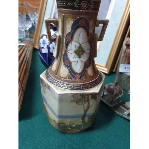 459A - Noritake hand painted handled urn