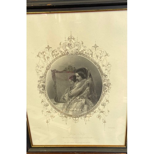 37 - An Antique Engraving depicting a young lady titled 'Young Kitty' John Tallis & Company, London, Engr...
