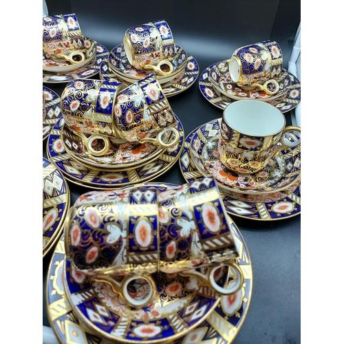 21 - A 35 Piece Royal Crown Derby Imari pattern tea set.