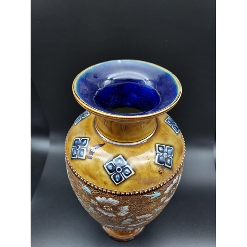 23 - A Royal Doulton Lambeth Slaters large vase. [30cm in height]