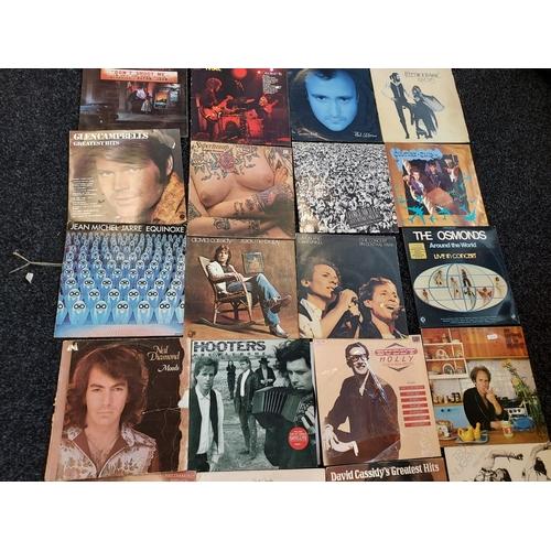 24 - A lot of 52 records to include; Neil Diamond, Simon & Garfunkel, Frankie Valli, Kylie, Beastie Boys,...