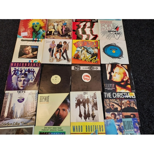 32 - A lot of various records to include; Rick Astley, Erasure, Tears for Fears, The Christians etc
