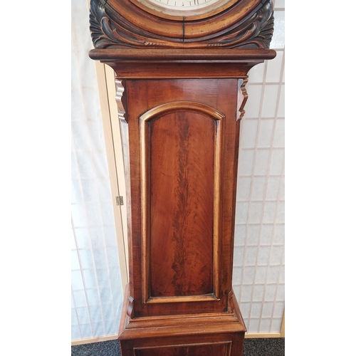 5 - A 19th century Mahogany Scottish Grandfather clock with drum top. Alexander Brand of Markinch. Comes...